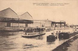 """CPA - BELGIQUE - CAPELLE AU BOIS - Canal Et Usine """" Eternit """" - Zonder Classificatie"""