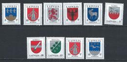 Lettonie YT 511-512 + 529-534 + 547-548 Neuf Sans Charnière - XX - MNH - Latvia