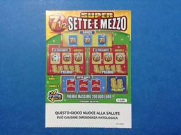 ITALIA BIGLIETTO LOTTERIA GRATTA VINCI USATO € 3,00 SUPER SETTE MEZZO LOTTO 3005 SENZA EMBLEMA REPUBBLICA LOTTERY TICKET - Billetes De Lotería