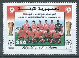 Tunisie YT N°1332 Coupe Du Monde De Football France 98 Neuf ** - Tunesien (1956-...)