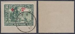 "Croix-rouge - N°161 Sur Fragment Obl Simple Cercle ""Spa"". TB - 1918 Red Cross"
