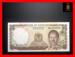 TANZANIA 5 Shillings 1966  P. 1  UNC - Tanzania