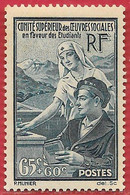 France N°417 65c + 60c Bleu-vert 1938 ** - Nuevos