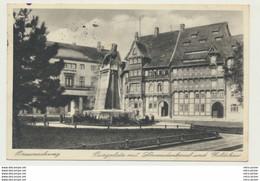 AK  Braunschweig Burgplatz Mit Löwendenkmal Und Gildehaus 1935 - Braunschweig