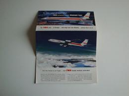 Aviation,Boeing 707 TWA,le Plus Grand Avion De Ligne Du Monde,luxe,USA,1959 - Publicidad