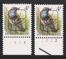 Buzin Nr PRE823**   Plaatnr 1 En 2  S2 Witte Gom - 1985-.. Vogels (Buzin)