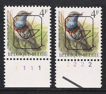 Buzin Nr PRE823**   Plaatnr 1 En 2  H2 Groene Gom - 1985-.. Vogels (Buzin)