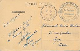 CP Viaduc Chaumont – Vitry A Chaumont 19-4-15 Vers Lyon – Grand Parc D'Artillerie 2 éme Groupe - WW I