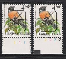 Buzin Nr PRE825**   Plaatnr 1 En 2  S2 Witte Gom - 1985-.. Vogels (Buzin)