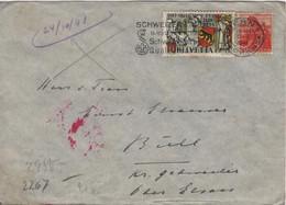Suisse Berne 20 Octobre 1941 Pour BUHL Alsace Censure  Crayon Et Tampon - Postmark Collection