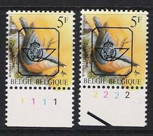 Buzin Nr PRE826**   Plaatnr 1 En 2  H3 Groene Gom - 1985-.. Vogels (Buzin)