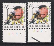Buzin Nr PRE828**   Plaatnr 1 En 2  Novarode - 1985-.. Vogels (Buzin)