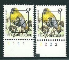 Buzin Nr PRE829B**   Plaatnr 1 En 2  CPFL - 1985-.. Vogels (Buzin)