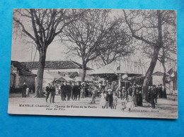 16 : MANSLE : CHAMP De FOIRE De La PAILLE , JOUR De FETE , Animé, CPA,carte En Bon état - Mansle