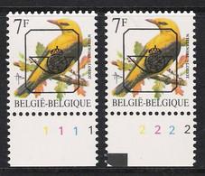 Buzin Nr PRE830**   Plaatnr 1 En 2  CPL Witte Gom - 1985-.. Vogels (Buzin)