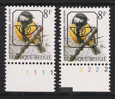 Buzin Nr PRE831**   Plaatnr 1 En 2  S2 Witte Gom - 1985-.. Vogels (Buzin)