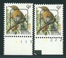 Buzin Nr PRE833**   Plaatnr 1 En 2  S2 Witte Gom - 1985-.. Vogels (Buzin)