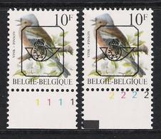 Buzin Nr PRE834**   Plaatnr 1 En 2  S2 Fosfor - 1985-.. Vogels (Buzin)