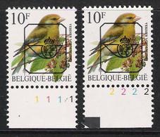 Buzin Nr PRE835**   Plaatnr 1 En 2  CPL Witte Gom - 1985-.. Vogels (Buzin)