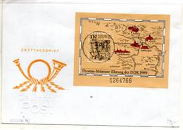 DDR 1989 Mi. 3237 Block 97 Als FDC (p1954) - FDC: Briefe