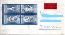 DDR 1989 Mi. 3241-3244 II Auf Brief Viererblock Zeven (p1953) - Covers