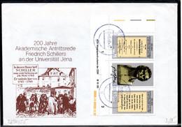 DDR 1989 Mi. 3254-3255 Dreierstreifen Auf Brief (p1949) - Covers