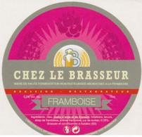 """Etiquette (label) De Biere Française   ( Beer, Cerveza, Birra, Bier); Micro-Brasserie """"Chez Le Brasseur"""" 63 - Bier"""