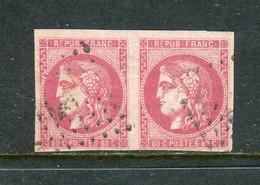 Rare Paire De N° 49 Cachet Ancre - 1870 Emission De Bordeaux
