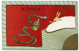 Antithèse.médecin. Serpent Animal Du Dieu Esculape,symbole De Guérison ( Caducée ) Contient Les Contraires Bon,mauvais. - Santé