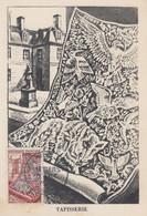 Carte Maximum  1er  Jour    FRANCE    METIERS   D' ART  :  Tapisserie    1954 - 1950-59