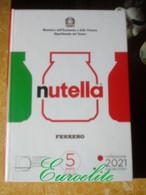 5 Euro Nutella 2021 Italia Trittico Monete FDC - Italy