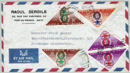 Haiti 1962, Luftpostbrief / Airmail Port-au-Prince - Wuppertal-Barmen, Malaria / Paludisme - Malattie