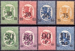 FINLAND 1919-21 Opdrukken PF-MNH - Neufs