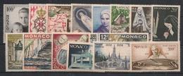 Monaco - Année Complète 1958 - N°Yv. 489 à 502 + PA 69 à 70 - Complet - Neuf Luxe ** / MNH / Postfrisch - Années Complètes