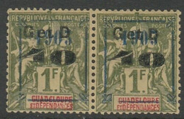 COLONIES - GUADELOUPE - Paire N° 50 U * - Ungebraucht