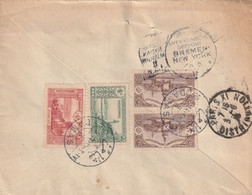 "Lettre De DAMAS (Syrie) - TTB Afft Et Cachetdu ""Kaiser Wilhelm"" Et Dateur ""Seepost BREMEN/NEW-YORK"" - Covers & Documents"