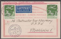 1929. DANMARK. Air Mail 2 Ex 10 øre  On BREVKORT From Dansk Vestindien Cancelled  KØB... (Michel 143) - JF416458 - Airmail