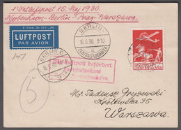 1930. DANMARK. Air Mail 25 øre On Postcard Cancelled KØBENHAVN LUFTPOST 15.5.30 To Wa... (Michel 145) - JF416464 - Airmail