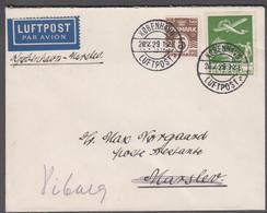 19329. DANMARK. Air Mail 3 Ex 10 øre + 5 øre On Cover Cancelled  KØBENHAVN LUFTHAVN 2... (Michel 143+) - JF416466 - Airmail