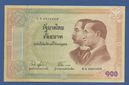 """THAILAND - P.110 – 100 BATH 2002/BE2545 """"Centennial Of Issue Of Thai Banknotes"""" Commemorative Issue  - UNC-- - Tailandia"""