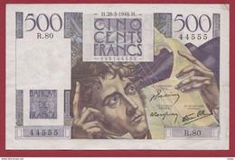 "500 Francs ""Chateaubriand"" Du 28/03/1946.H ----ALPH.R.80 ---TTB+ - 500 F 1945-1953 ''Chateaubriand''"
