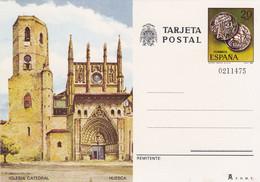 Carte Entier Postal Tarjeta Iglesia Cathedral Huesca - Unclassified