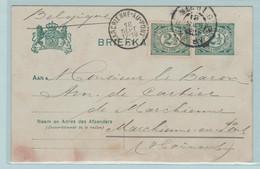 Carte Postale, Briefkaart, Van Duizel Naar Baron De Cartier Te Marchienne Au Pont In België - Material Postal