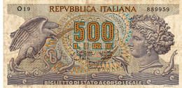 """ITALY 500 LIRE 1967 F P-93a """"free Shipping Via Regular Air Mail (buyer Risk) - 500 Lire"""