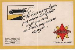Buvards HYDROCARBURES  SPIDOLEINE - Idrocarburi