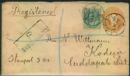 "1906, Stationery Envelope Registered From ""GUDUR NELLORY""toKodur - Non Classificati"