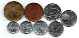 République Tchèque Lot De 8 Monnaies - Czech Republic