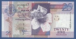 SEYCHELLES - P.37a – 25 RUPEESnd (1998 -2008)- UNC Prefix AC - Seychelles
