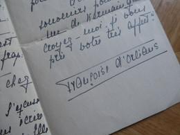 Francoise D'ORLEANS (1902-1953) PRINCESSE De Grèce. GREECE Ελλάδα. AUTOGRAPH Décès Ferdinand D'Orléans. - Handtekening