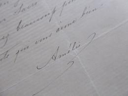 Amélie NAUNDORFF BOURBON (1819-1891) Fille FAUX LOUIS XVII. AUTOGRAPHE - Autographs